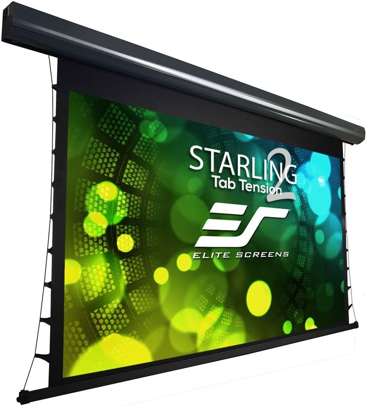 "Elite Screens Starling Tab-Tension 2, 150"" 16:9, 6"" Drop, Tensioned Electric Motorized Projector Screen, STT150UWH2-E6"
