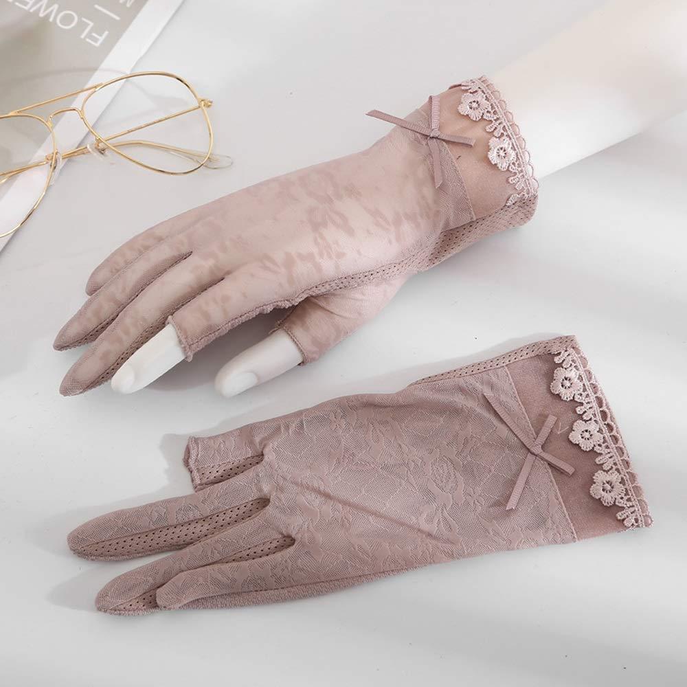 Sprrc Mezze Dita Lady Fashion Lace Gloves Summer Protezione Solare da Donna Mitilene Senza Dita Design Antiscivolo Leggero e Traspirante Guida Ciclismo Mitten attivit/à allaperto Abbigliamento Match