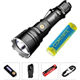 KLARUS XT12GT CREE LED XHP35 HI D4 1600 Lumen Magnetic-Charging Extended Reach Tactical Flashlight with 3600mAh Battery
