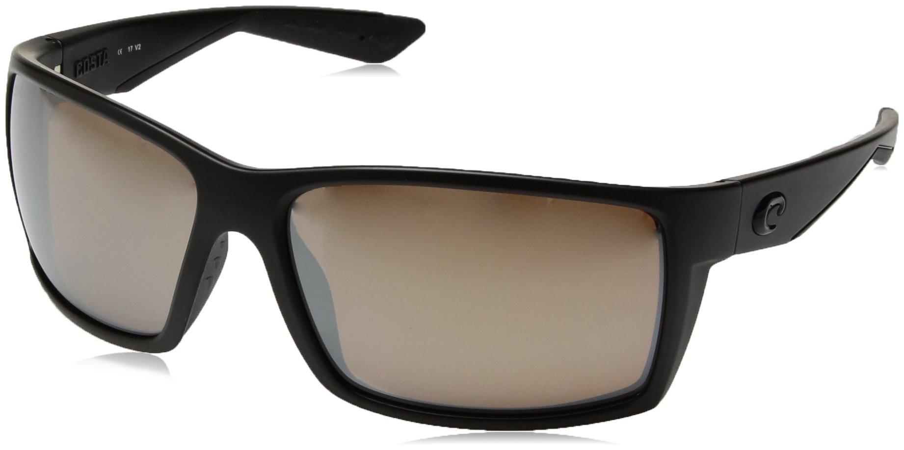 Costa Del Mar Reefton Sunglasses Blackout/Copper Silver Mirror 580Glass by Costa Del Mar