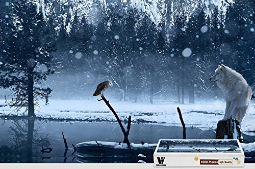 PigBangbang,29.5 X 19.6 Inch,Premium Wooden Unique Present To Family Nice Mural Poster - Winter (300 Pc Poster Puzzle)