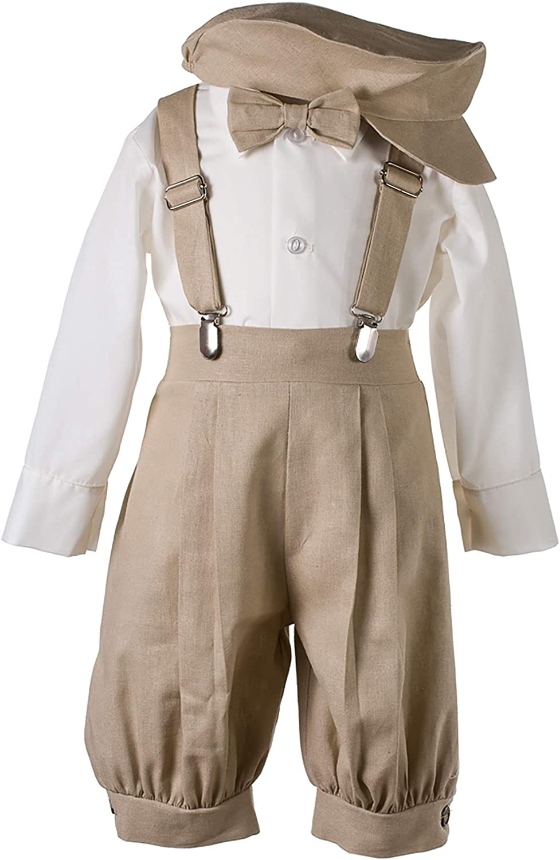 5 pc Suspender Bowtie Knickers Suit Baby Toddler Little Boys Vintage Knickerbocker Suit Set