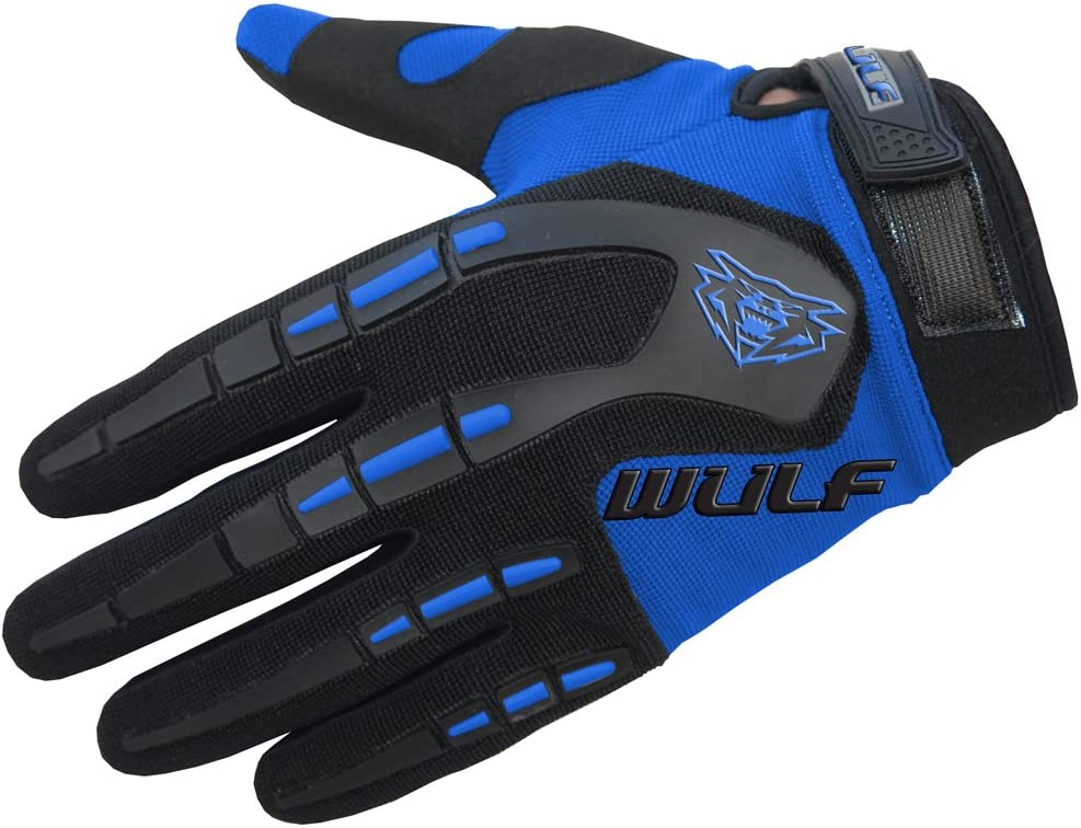 Gray L Wulfsport Adult Attack Motocross Gloves MX Motorcycle Motorbike Gloves