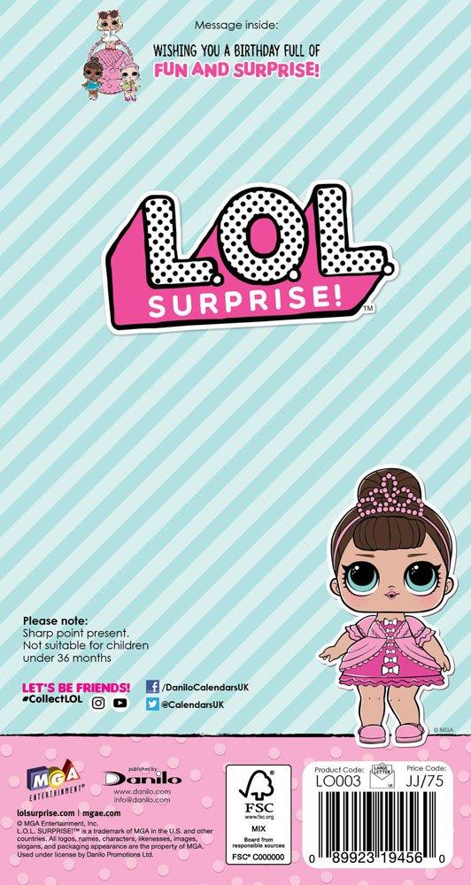 Tarjeta de cumplea/ños LOL Surprise LO0037th