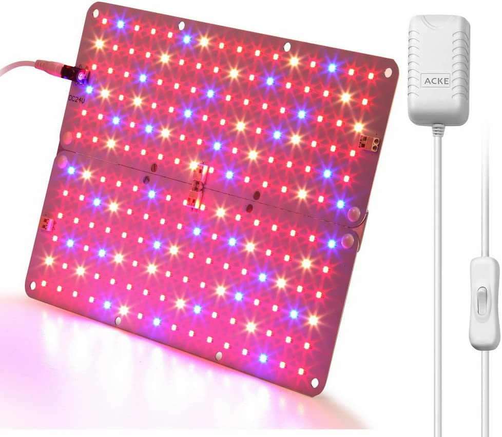 Cotcool LED Grow Light for Indoor Plants Growing Lamp Dimmable Plant Lights Bulb Panel Hanging Kit for Seedling Hydroponics Greenhouse Veg and Flower 1200W