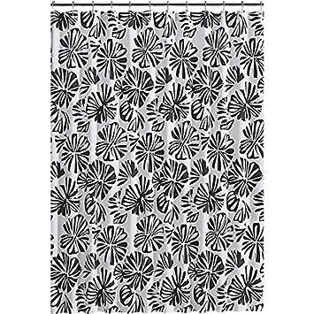 Amazon.com: CB2 Wabi Shower Curtain 100-Percent Cotton Shower ...