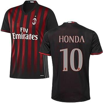 3468a511d7b 2016 2017 AC Milan Trikot 10 Keisuke Honda Home Football Soccer Jersey Kit  In Black: Amazon.co.uk: Sports & Outdoors