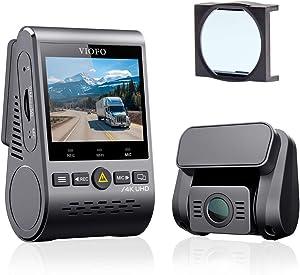 【Bundle: VIOFO A129Pro Duo Dash Cam + VIOFO CPL】 VIOFO A129 Pro Duo 4K Dual Dash Cam 3840 x 2160P Ultra HD 4K Front and 1080P Rear Car WiFi Dash Camera, GPS, Buffered Parking Mode