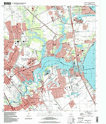 League City TX topo map, 1:24000 scale, 7.5 X 7.5 Minute, Historical, 1995, updated 1998, 26.9 x 23 IN - - Village Brookwood