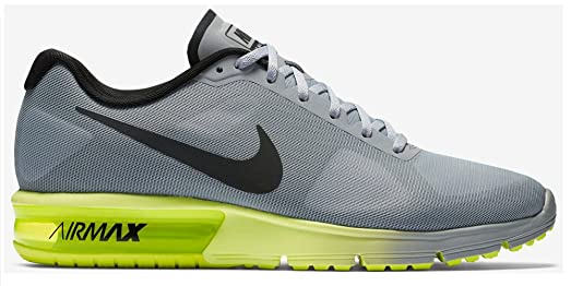 amazon com nike men s air max sequent wolf grey black volt 9 m