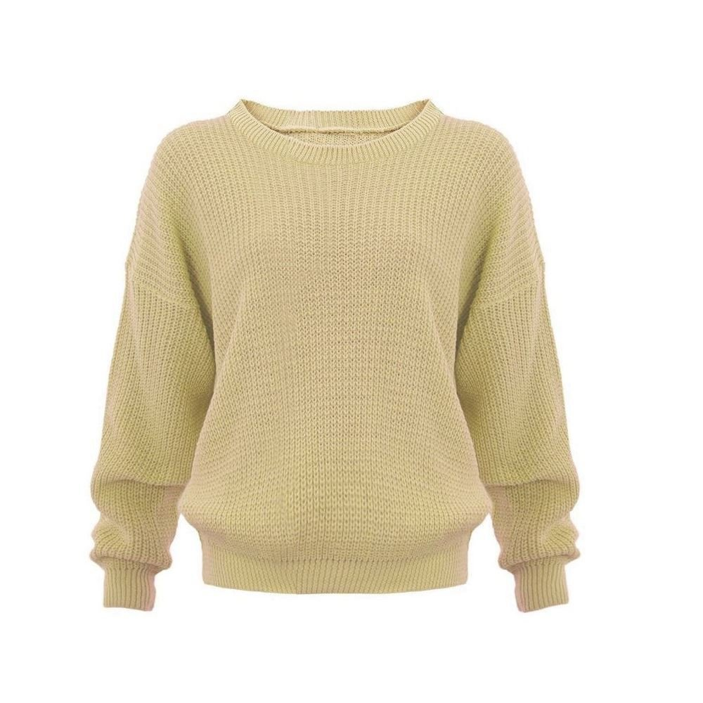 6f36f3353 Made By PURL® Ladies New Plain Chunky Knit Loose Baggy Oversized ...