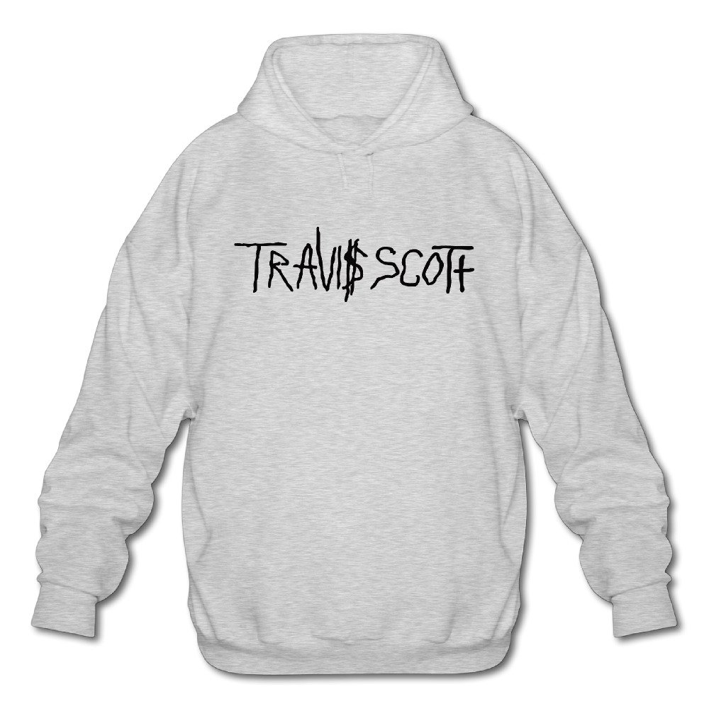 Posspro-EIL Mens Travi$ Scott Logo Sweatshirt Ash