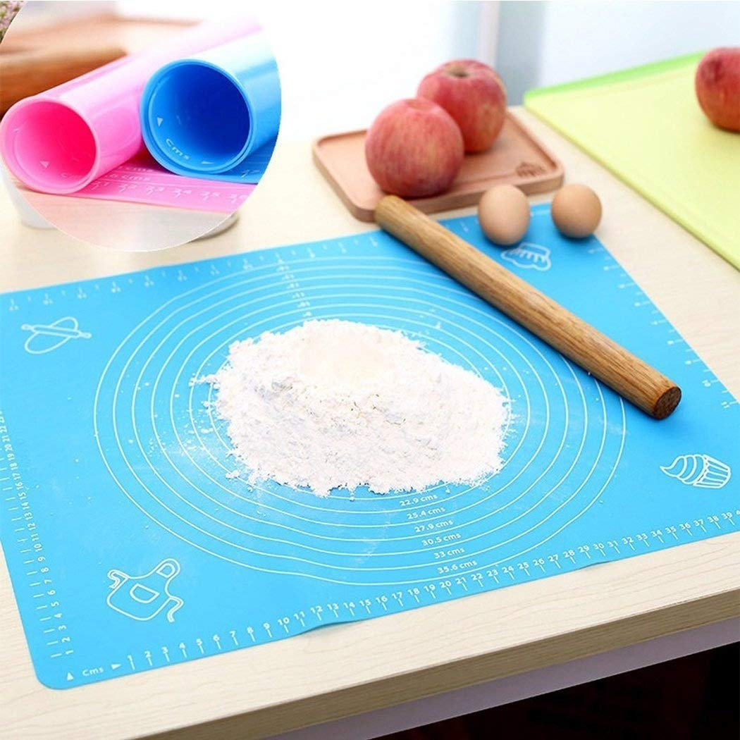Ielek Silicone Baking Mat Non-Stick Fondant Pastry Rolling Measurements Liner Heat Resistant Table Placemat Kneading Mat,Extra Large Reusable Sheet Ielek Official