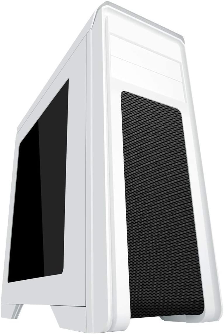 Side Window and Remote Control Game Max Falcon Gaming Case with 2 RGB Front Fans White
