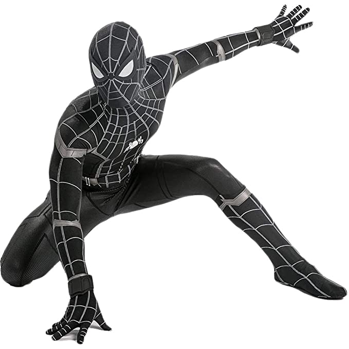 QWEASZER Spider-Man: Homecoming, Traje Negro Spiderman ...
