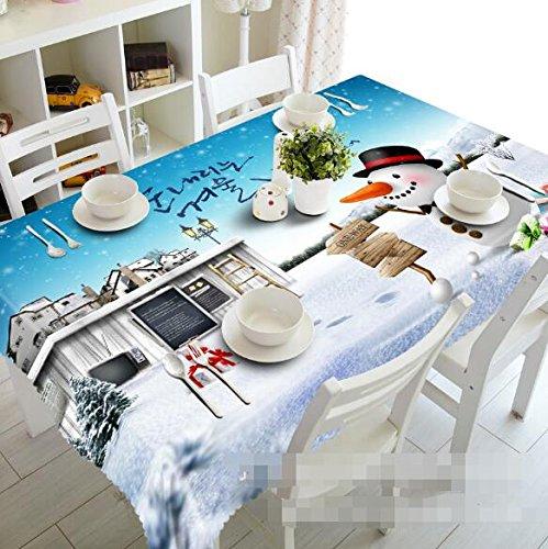 3d Villa paisaje invierno Nieve 6883 mantel funda para mesa ...