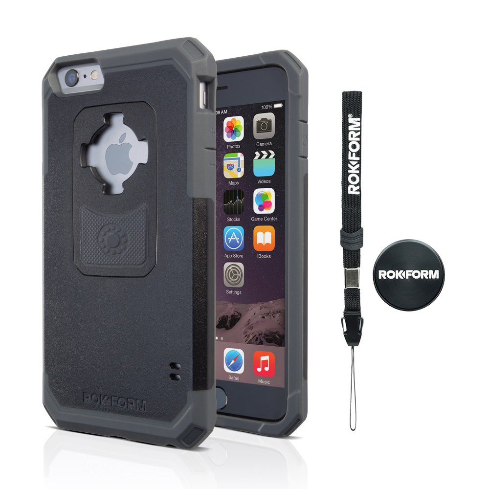 quite nice 0100a 3e39a Rokform iPhone 6/6s PLUS Rugged Series Military Grade Magnetic Protective  Phone Case with twist lock & universal magnetic car mount (Black/Gun Metal)  ...