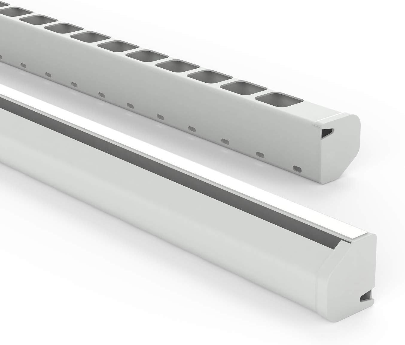 Habengut Untertisch Kabelführung Aus Pvc Grau Für Das Kabelmanagement Am Schreibtisch Länge 1 16 M Baumarkt