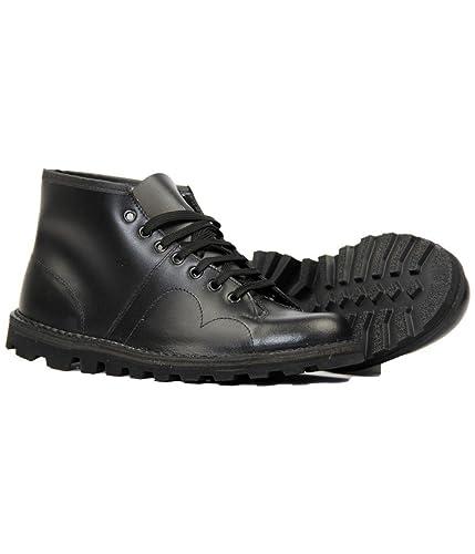 3918bdc9b96 Grafters Mens ORIGINAL MONKEY BOOTS Black Leather 4-12: Amazon.co.uk ...