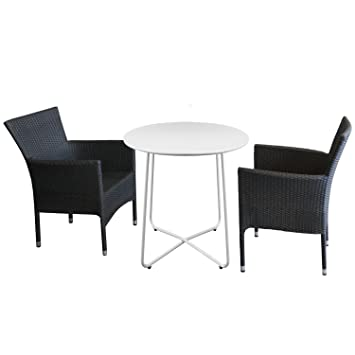 Mesa auxiliar, 60 x 70 cm blanco Balcón - Mesa terraza jardín mesa ...