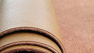 Reed Leather Hides - Cow Skins Natural Cow Leather Piece 12 X 24 Inches 2 Square Feet Approximately 0.8-1.2 MM Thickness, or 2.5 Oz