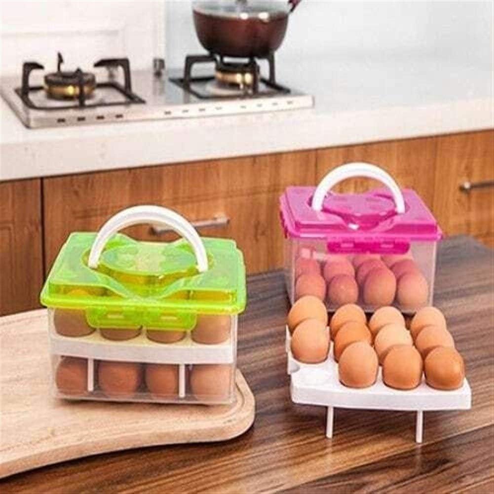 Kaimaily Storage Box Kitchen Household Portable Egg Storage Box Refrigerator Plastic Storage Box Storage Box Egg Frame Egg Grid