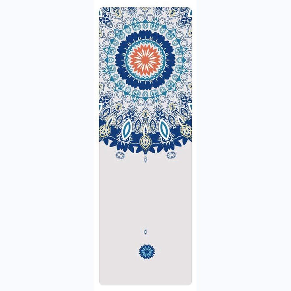 POSDJ Yogamatte 183 cm  61 cm  3,5Mm Naturkautschuk Wildleder Fabirc Rutschfeste Verlieren Gewicht Übung Fitness Yoga Mat