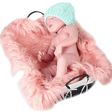 Amazon.com: Monique bebé recién nacido suave manta de piel ...