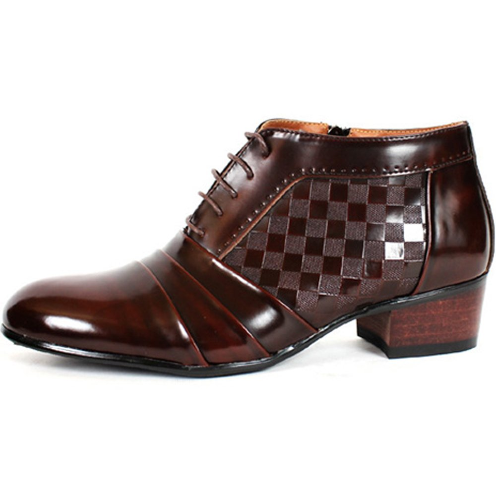 New Mens Oxford Dress Formal Leather Lace up Ankle Boots Shoes Wine (9.5)