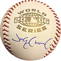 $85 » Jim Edmonds Signed Official MLB Baseball - St. Louis Cardinals White 2006 World Series Rawlings Ball - Autographed and JSA Authenticated