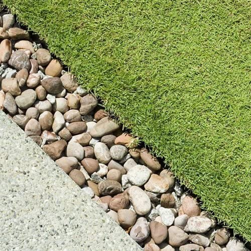 Bordure de jardin 4 galets de pierre Paysage Chemins étape ...