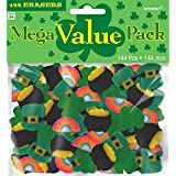 "Fun Filled St  Patrick's Day Party Mini Rubber Eraser , Multi Color, Rubber , 5 3/4"" x 6 1/4"" (Pkg  Size), Pack of 144"