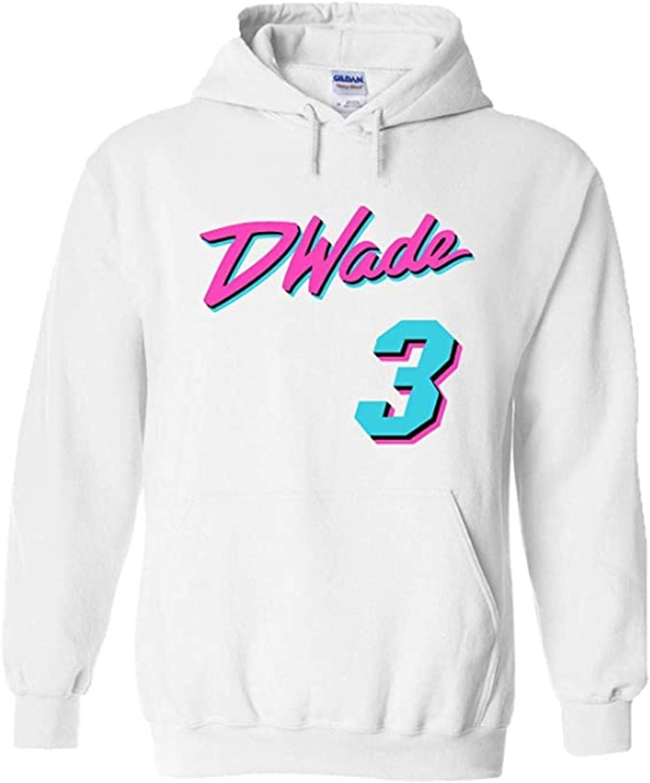 LIPAGI White Miami Wade Miami Vice Hooded Sweatshirt