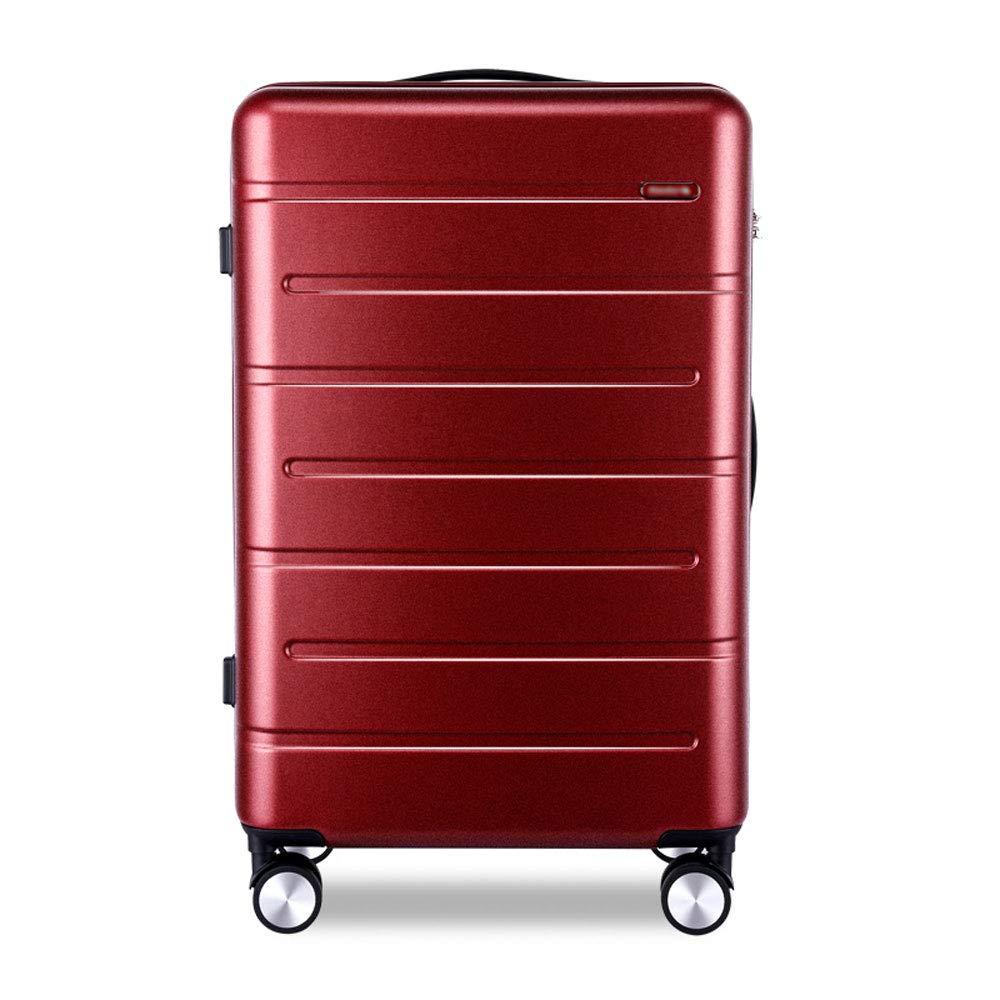 トロリーケース - ABS/PC、TSA税関パスワードロック、合理的な仕切り、スタイリッシュで小さくて普遍的な車輪の学生大容量搭乗スーツケース - 2色、2サイズあり (色 : Frosted wine red, サイズ さいず : 41.8*24*61cm) 41.8*24*61cm Frosted wine red B07MMMP9QK