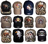 Native Pride Embroidered Baseball Caps Hats - Assorted Styles 12 Pc Pack (CapNp-12 Z)