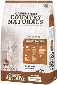 Grandma Mae's Country Naturals Grain Free Non-GMO LID Dakota Frontier Buffalo Meal Recipe 25 Lb, Dog Food