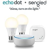 All-new Echo Dot (3rd Gen) - Sandstone + Sengled 2 Bulb Kit