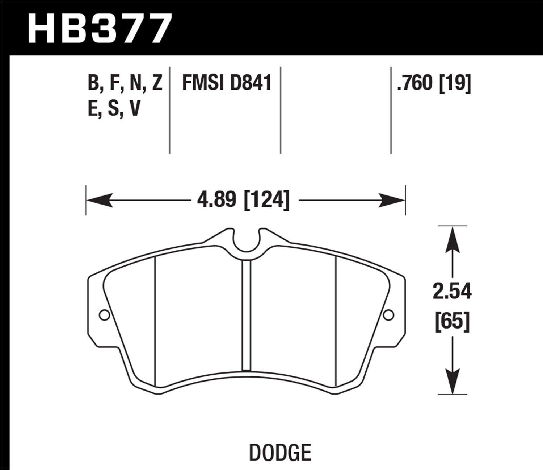 Hawk Performance HB377F.760 HPS Performance Ceramic Brake Pad