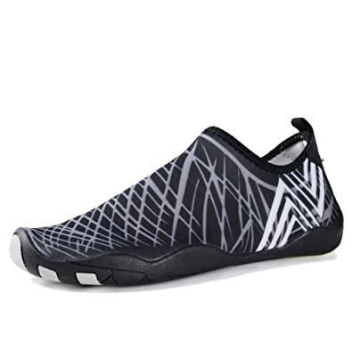 Womens Mens Water Shoes Barefoot Quick Dry Aqua Skin Shoes Slip On Beach Running Shoes
