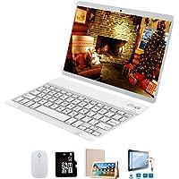 Tablets 10 Pulgadas 64GB, 3GB RAM 4G Dual SIM/WiFi Tablet con Teclado Android 8.1 8MP Cámara Google Play/Office/Netflix/GPS/OTG/Bluetooth Tablet PC Buenas Voukou(Oro)