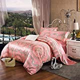 L&M Silk pieces of four sets 100% Pure silk Silk quilt Bed sheets 200230?cm? 220240 (cm) , pink , 220240cm