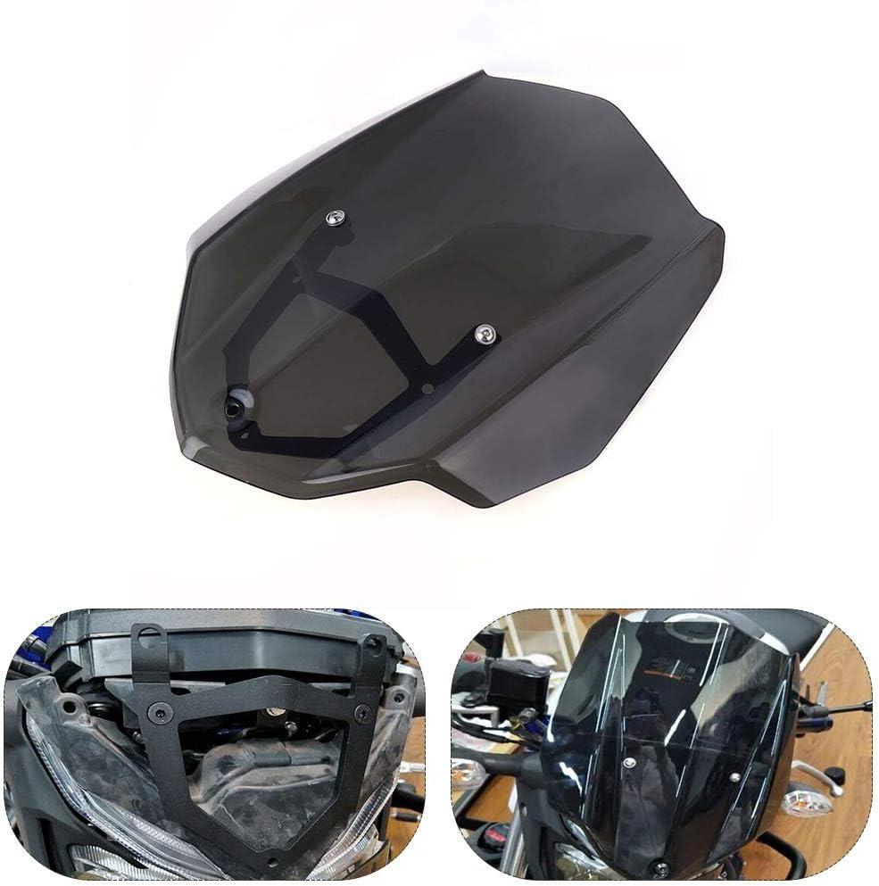 DASEXY for Yamaha MT 03 MT03 Zubeh/ör 2017 Vordere Windschutzscheibe Windschutz for Yamaha MT-03 2016 2017 Windschotts