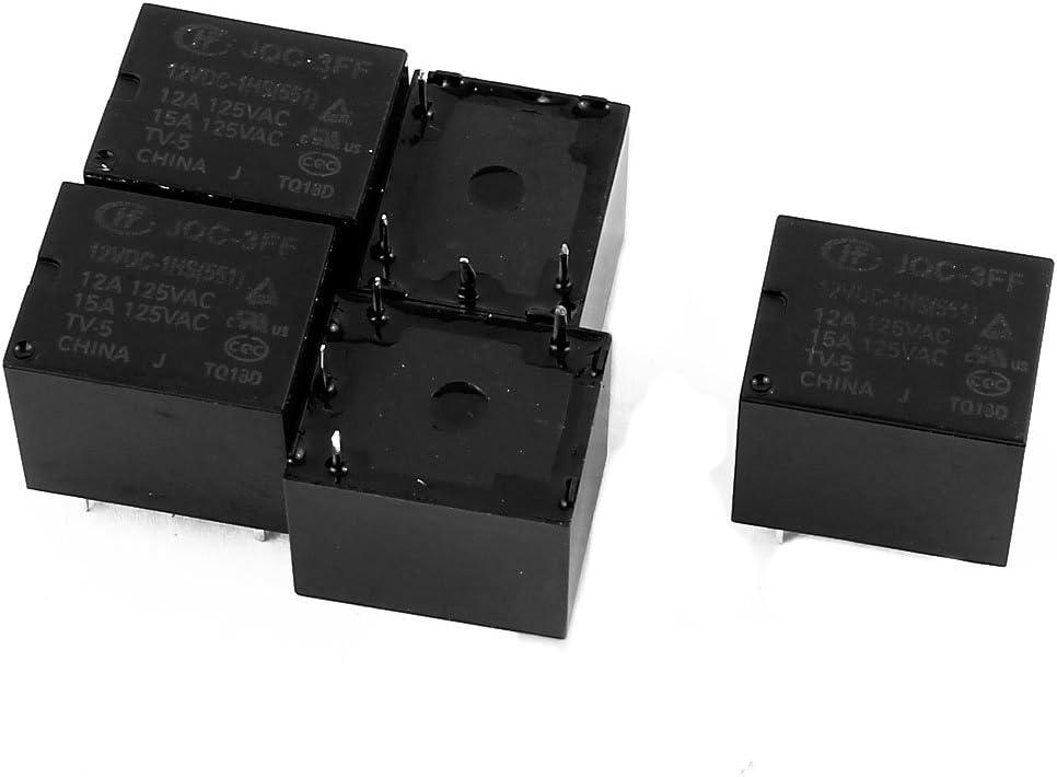 511 Power Relay 4da11837-a222-11e9-8d7c-4cedfbbbda4e X-Dr 5 Pcs 12VDC 4 Pole SPST NO JQC-3FF//012-1HS