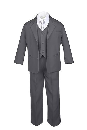 Boy /& Toddler Eton Formal Vest Shorts Suit Silver S M L XL 2T 3T 4T New Baby