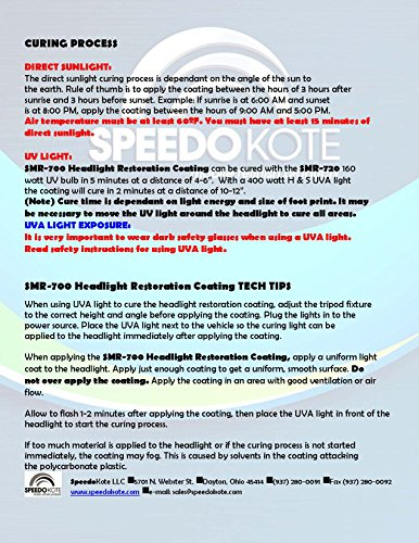 Speedokote Professional Headlight Restoration Aerosol Kit UV