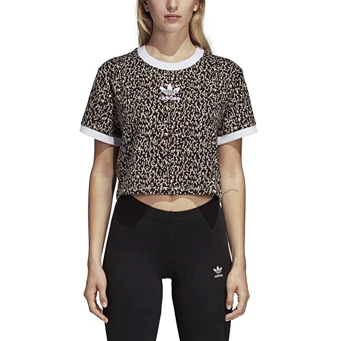 adidas Camiseta Leoflage Cropped Talla: 36 S (Small)