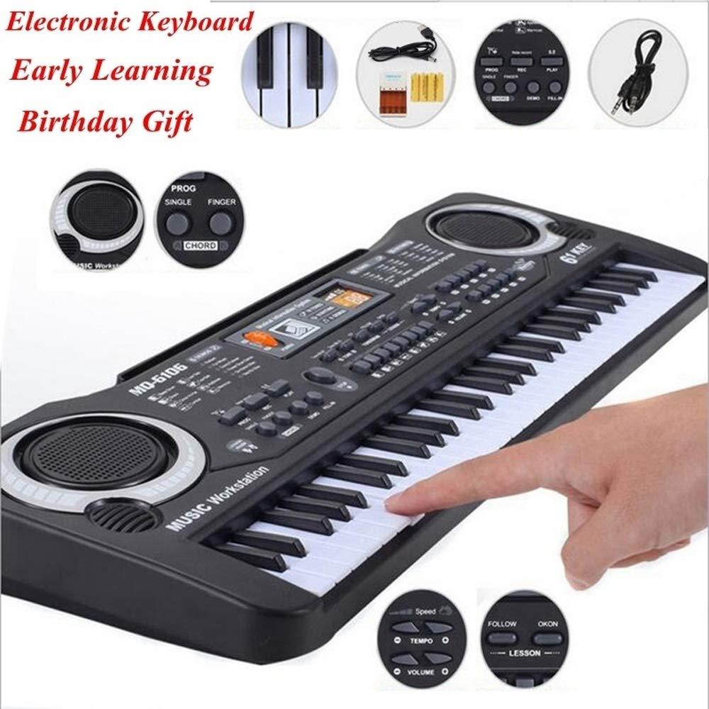 Muslady 61 Keys Black Digital Music Electronic Keyboard Key Board Electric Piano Kids Gift Musical Instrument by Muslady (Image #5)