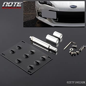10-15 Toyota Prius /& 17-up 86 13-18 Subaru BRZ /& 15-up WRX iJDMTOY No Drill Front Bumper Tow Hook License Plate Mounting Bracket Adapter Kit For 13-17 Scion FRS