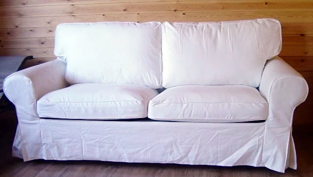 The Ektorp Two Seater Sofa Bed Cover Replacement IS Custom Made For Ikea Ektorp 2 Seater Sleeper Only, A Quality Sofa Slipcover Replacement. (Dense ...