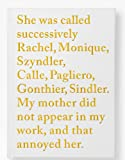Sophie Calle: Rachel Monique